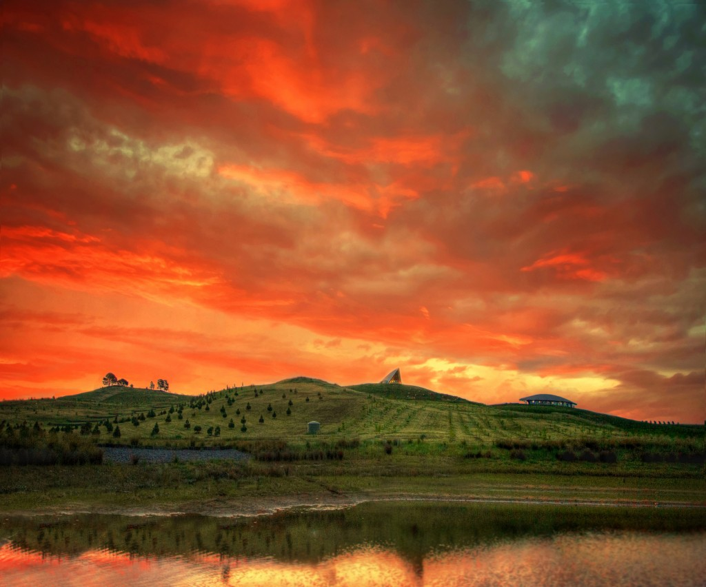 Sunset at the National Arboretum, Canberra