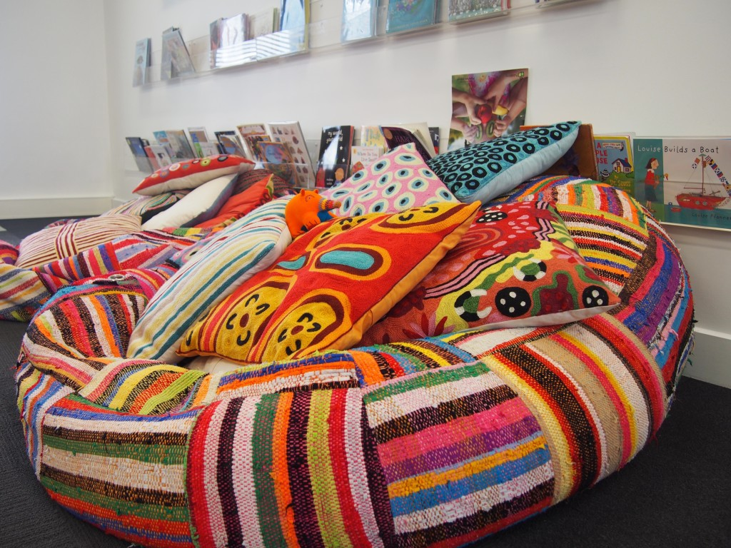 Colourful beanbag