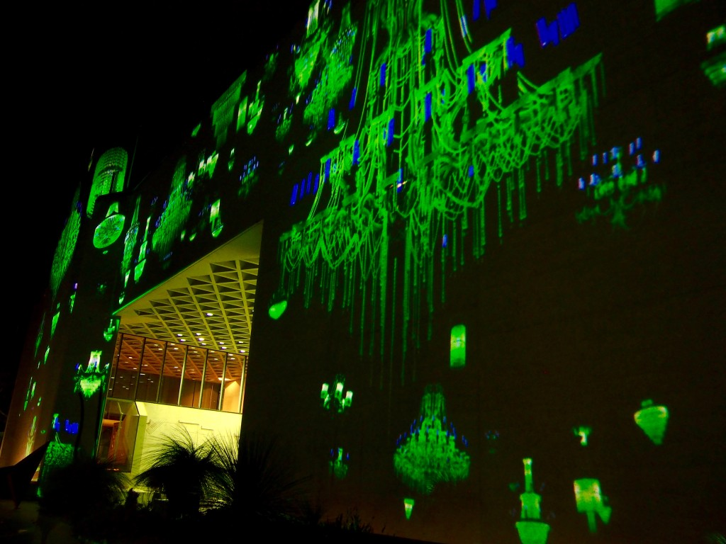 Enlighten 2016, projections at the National Gallery of Australia, Canberra.