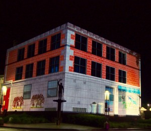 Enlighten 2016, projections at Questacon in Canberra.