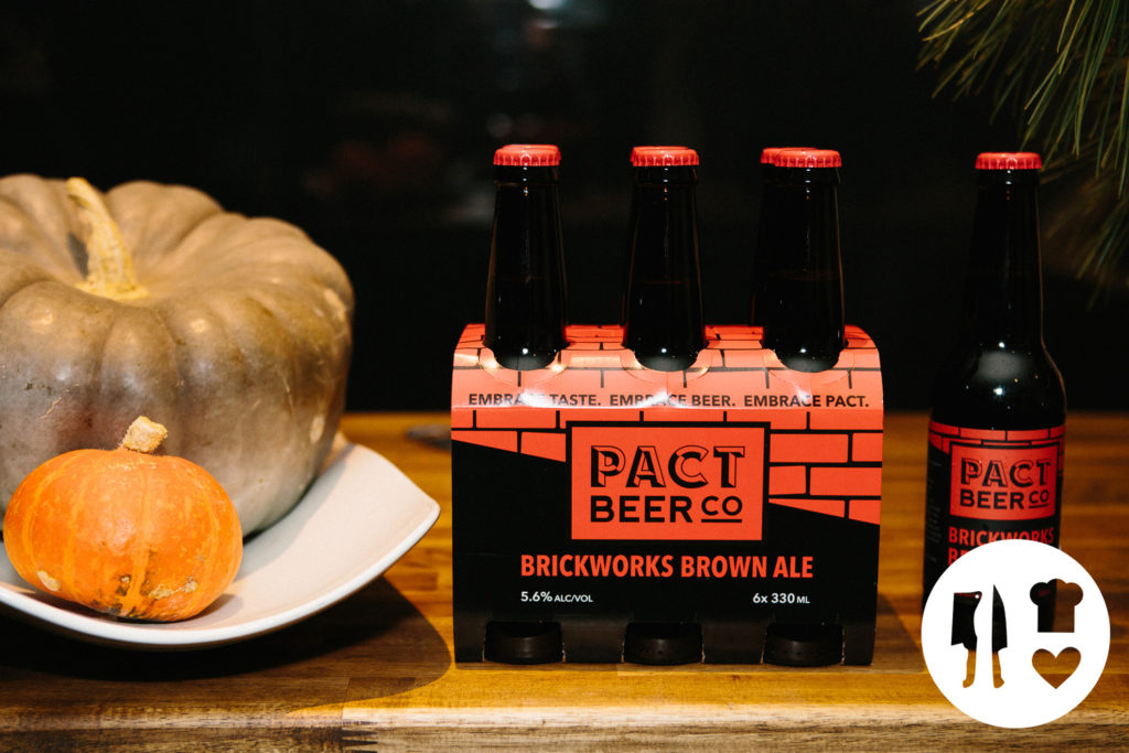Six pack of Pact Beer Co - Brickworks Brown Ale