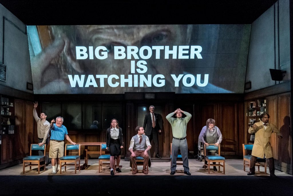The cast of 1984 Photo: Headlong | Canberra Theatre