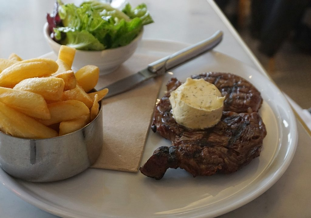 Scotch Fillet served with truffle butter