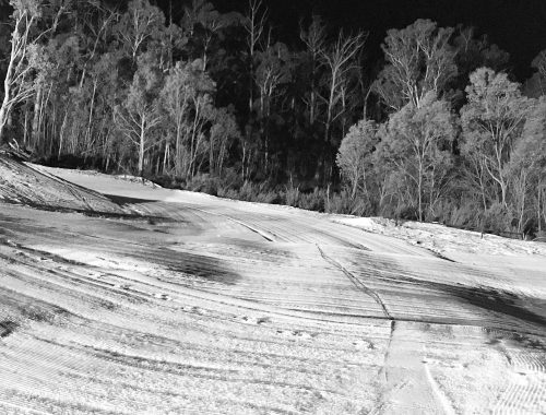 Night skiing at Corin Forest