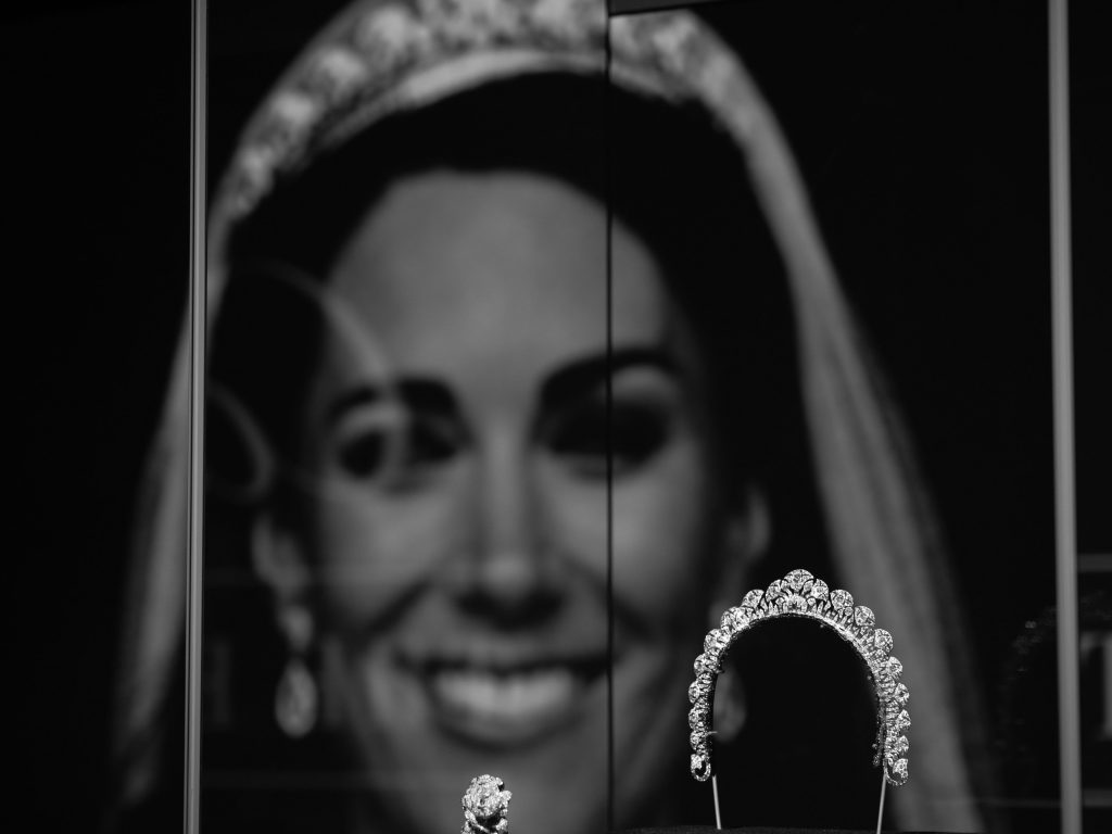 The Halo Tiara worn by Kate Middleton on her wedding day
