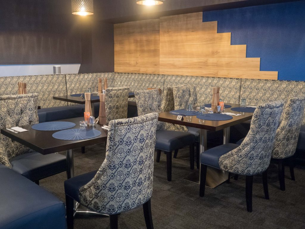 The upstairs function room seats between 30-35 people comfortably