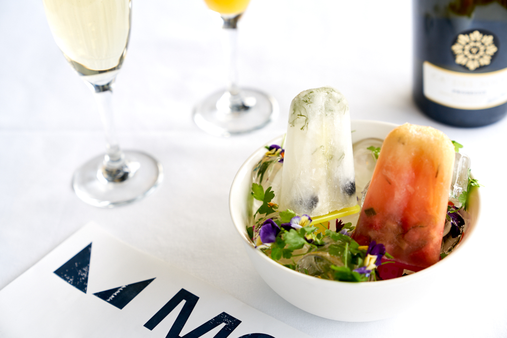 Ice poles to end brunch. Image provided by Molto Italian