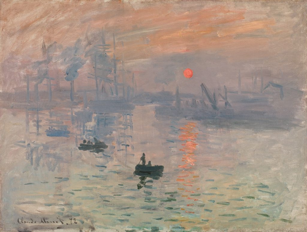 Claude Monet Impression, sunrise [Impression, soleil levant] 1872 Gift of Victorine and Eugène Donop de Monchy 1940 Musée Marmottan Monet, Paris © Christian Baraja SLB
