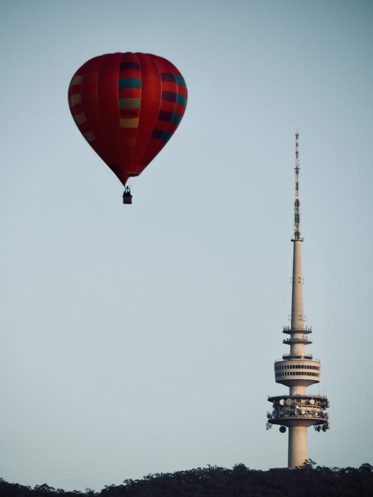 Balloon Spectacular and Telstra Tower