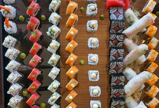 Amazing sushi selection at the Hyatt Hotel Canberra